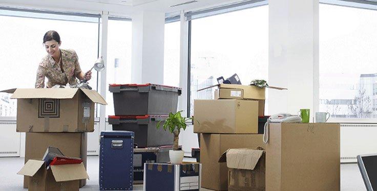 Deposito mobili ufficio e magazzino temporaneo per il trasloco delle aziende